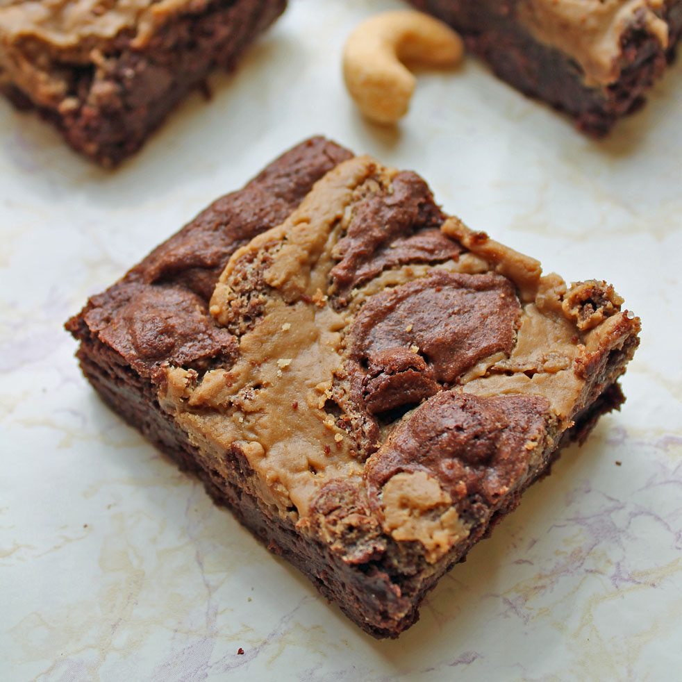 Peanut Butter & Cookie Butter Fudge Truffle Brownies | Wallflour Girl