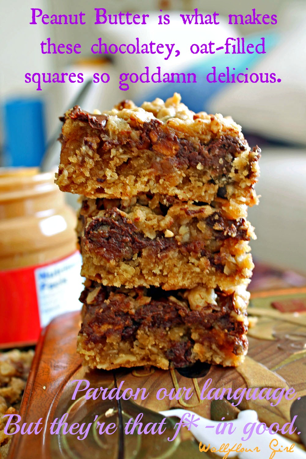 Peanut Butter Lovers' Chocolate Oat Squares 25--101313