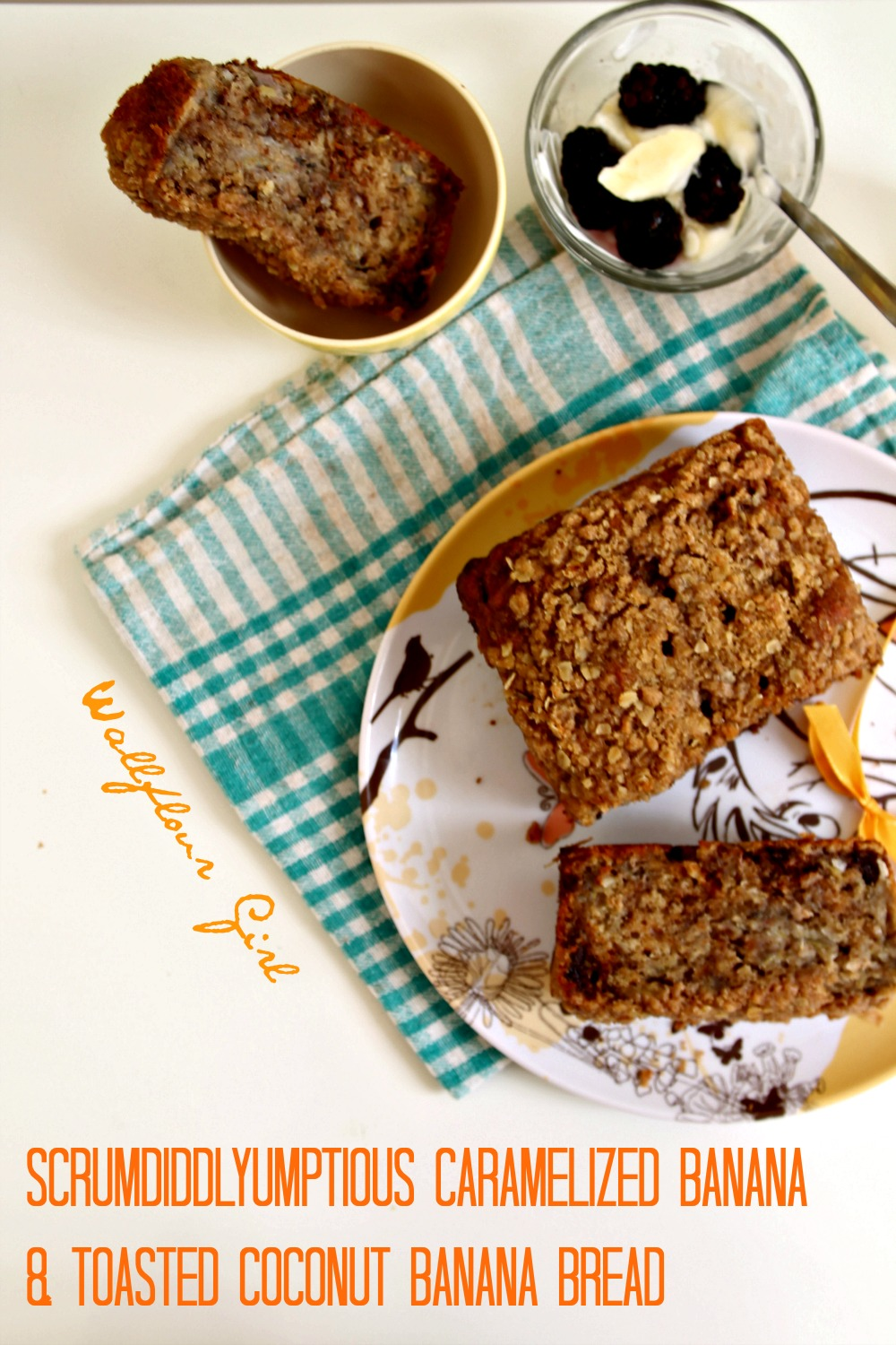 Scrumdiddlyumptious Caramelized Banana and Toasted Coconut Banana Bread 2--013014