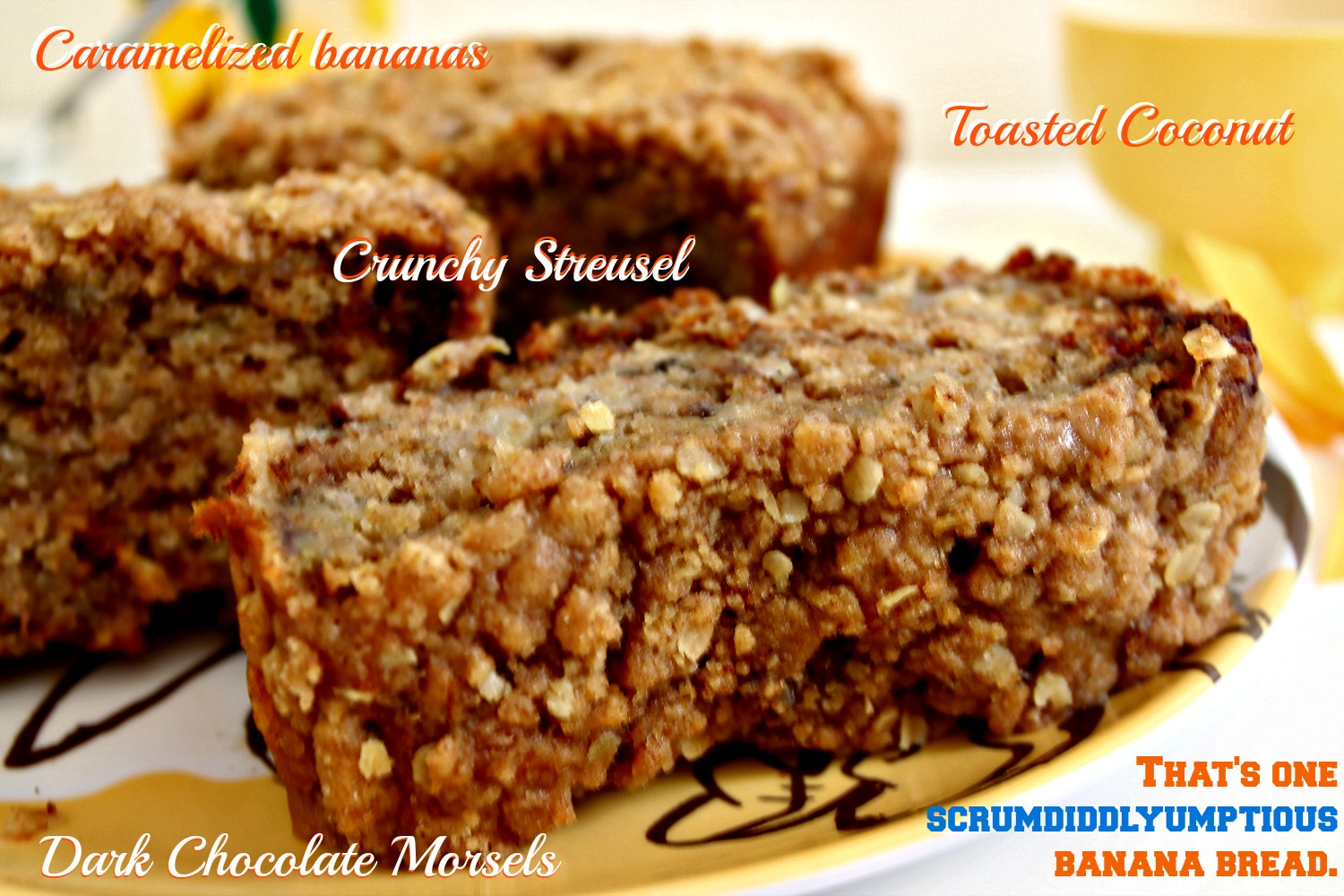 Scrumdiddlyumptious Caramelized Banana and Toasted Coconut Banana Bread 8--013014