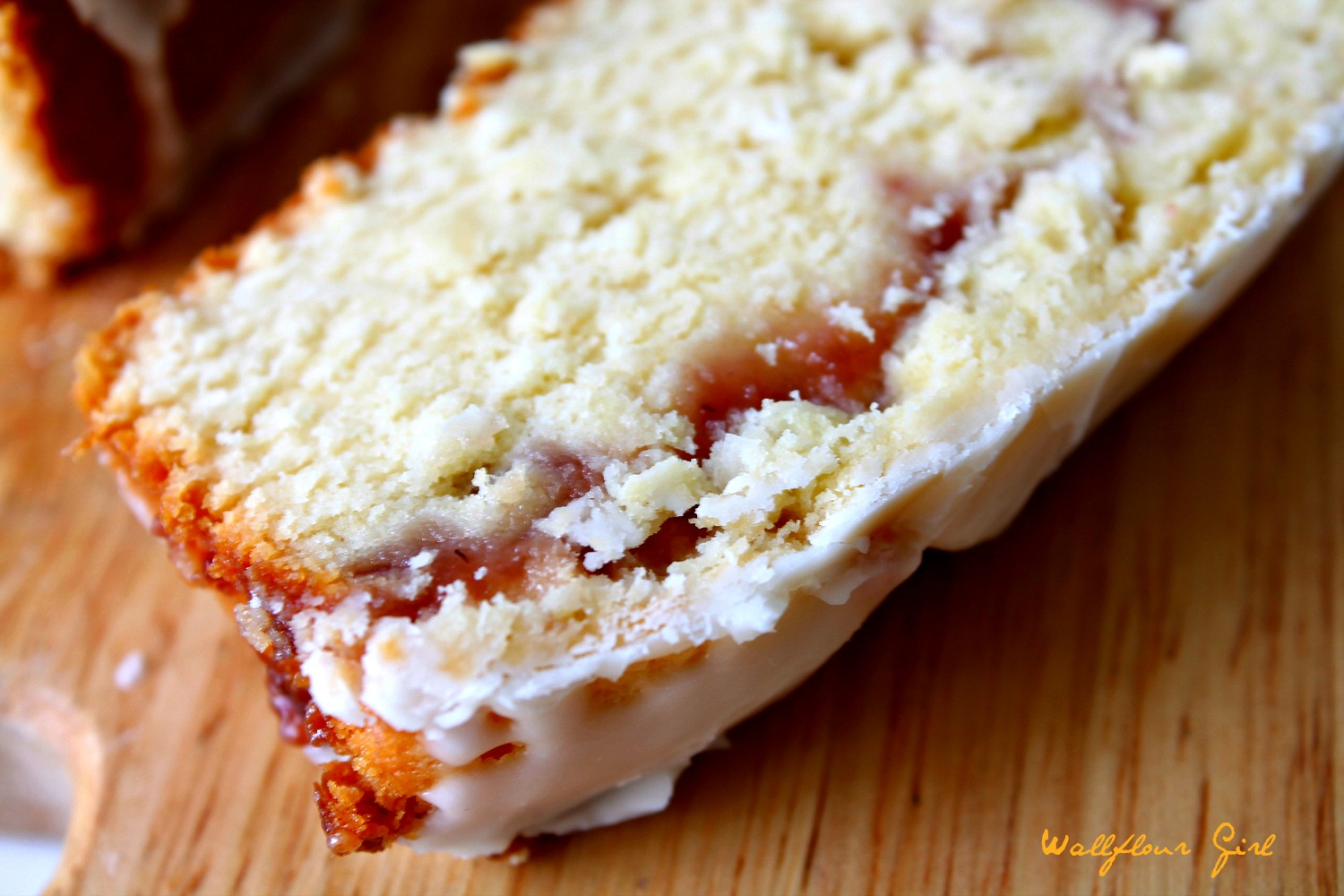 Buttery Moist Lemony Glazed Strawberry Swirl Pound Cake 15--020514