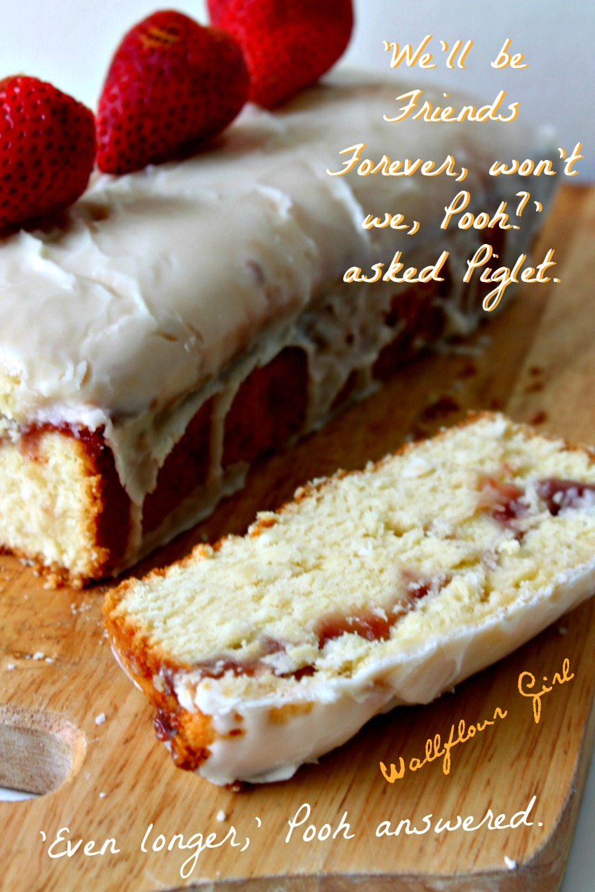 Buttery Moist Lemony Glazed Strawberry Swirl Pound Cake 20--020514