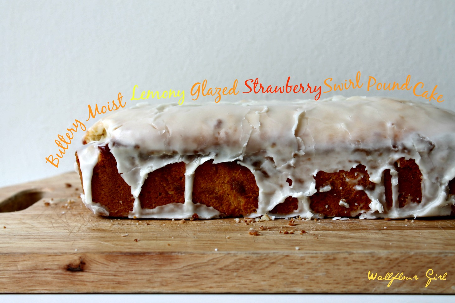 Buttery Moist Lemony Glazed Strawberry Swirl Pound Cake 7--020514