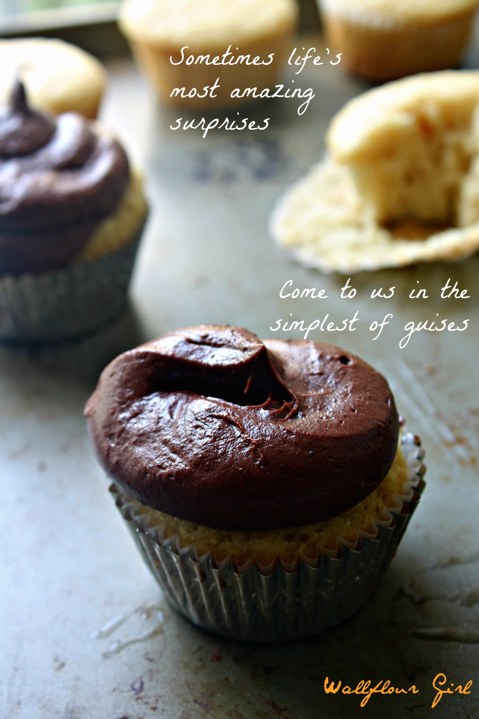Vanilla Cupcakes with Chocolate Buttercream Frosting 21--061414