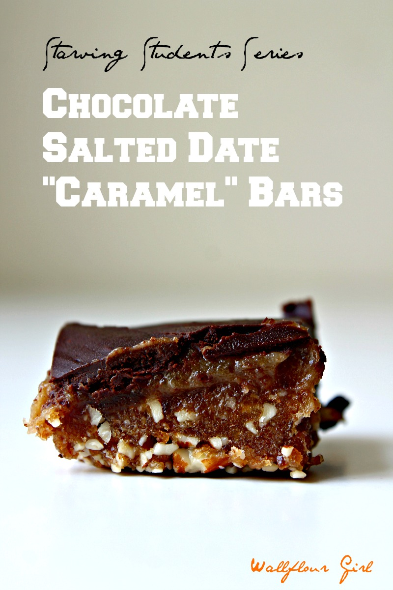 Chocolate Salted Date Caramel Bars (Raw, V, GF) 5--090114
