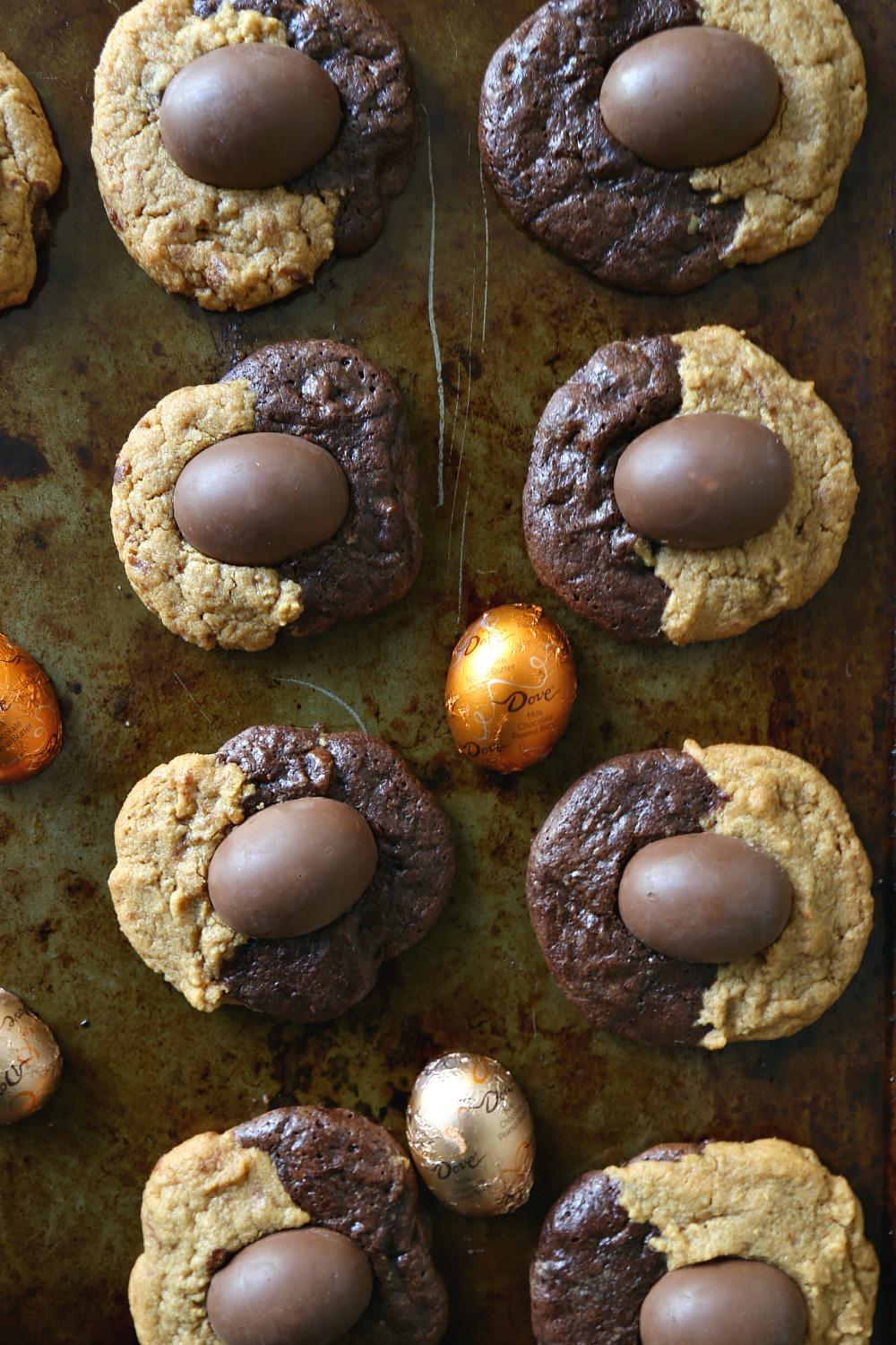 Peanut Butter Chocolate Swirl Cookies with Easter PB Eggs 5--030616