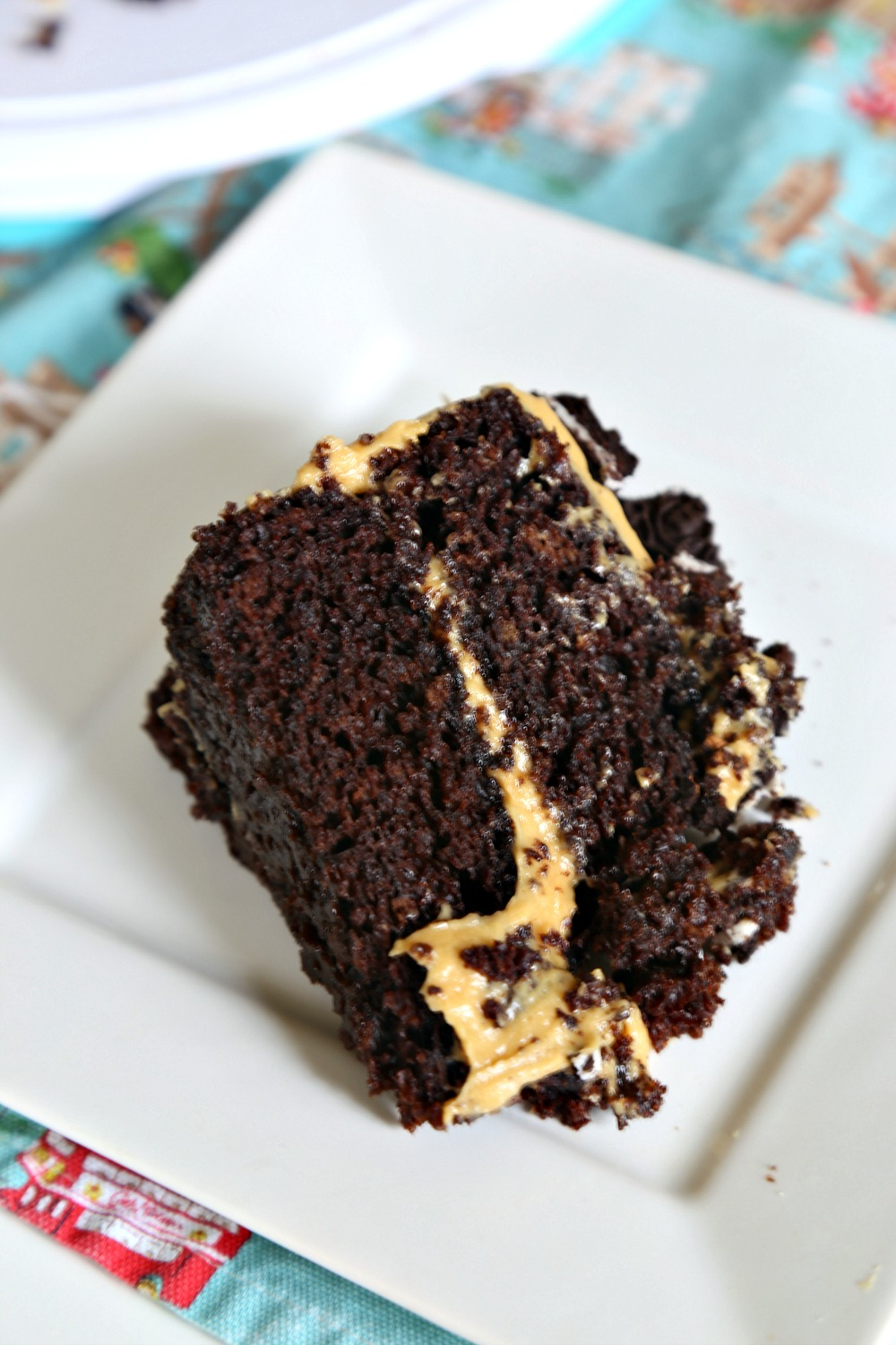 Chocolate Layer Cake with Peanut Butter Frosting 1--071117